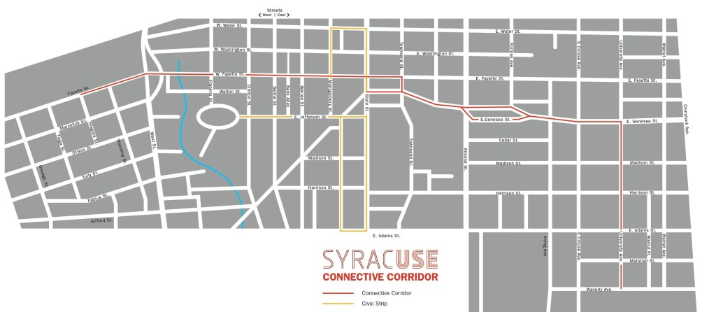 CC and Civic Strip map