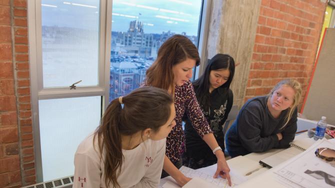 CVPA Design Warehouse Students Environmental and Interior Design Faculty
