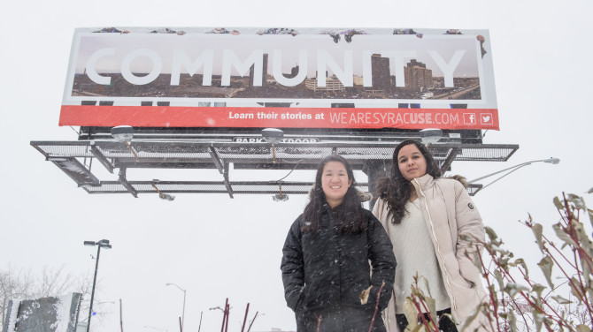 Near West Side Billboard Series with Students Tiffany Soohoo & Karina Campos