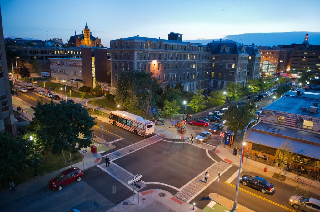 Connective Corridor University Ave Night Evening